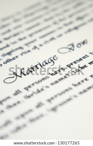 Wedding vows stock images royalty free images vectors wedding vow junglespirit Image collections