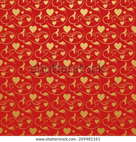 Wedding Wallpaper Background for Your design. Red - stock photo