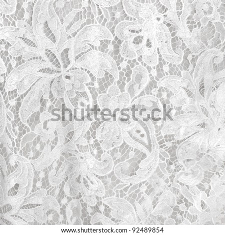 Wedding white lace background - stock photo
