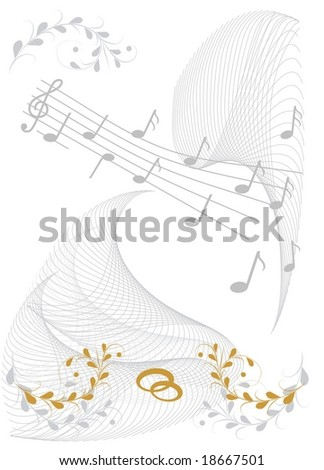 Wedding Wishes With Sheet Of Music