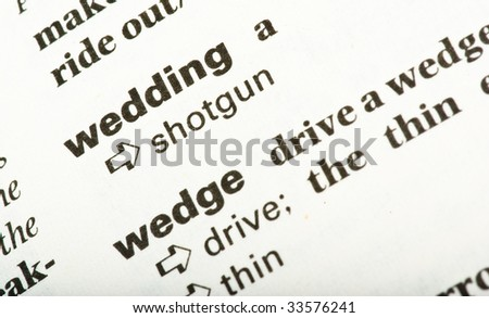 wedding word text