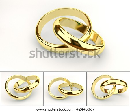 weddings rings - stock photo