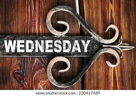 Wednesday  - stock photo