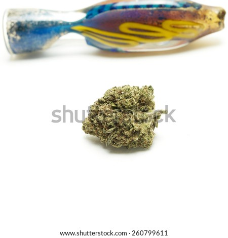 Weed Pipe  - stock photo