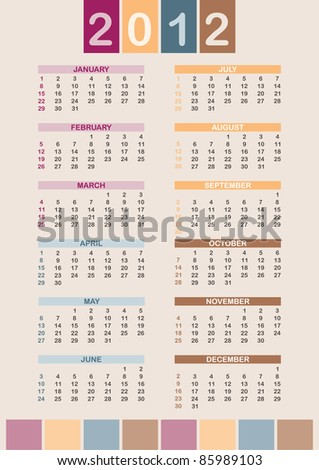 Week starts on SUN; A3 size; see vector copy in my portfolio - stock photo