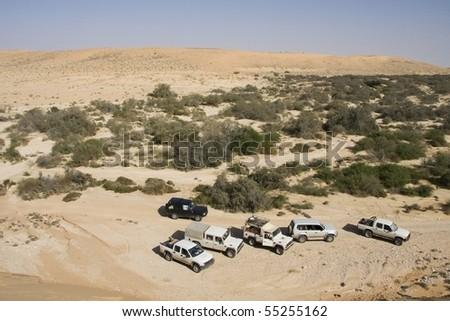 Weekend in the desert - stock photo