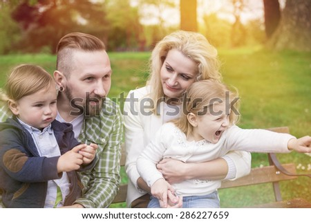 Weekend is the perfect time for family  - stock photo