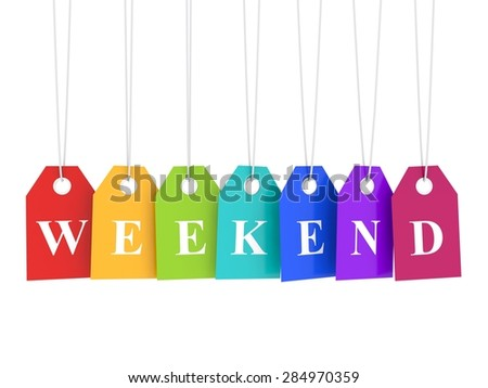 Weekend promotion prices - stock photo