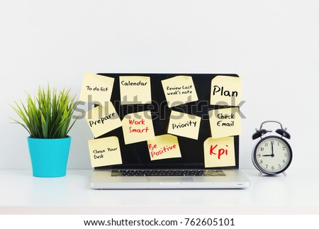 Weekly Checklist Work Station Stock Photo   Shutterstock