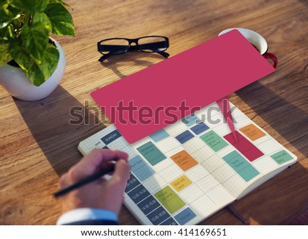 Weekly Schedule Event Appointment Organizer Concept - stock photo