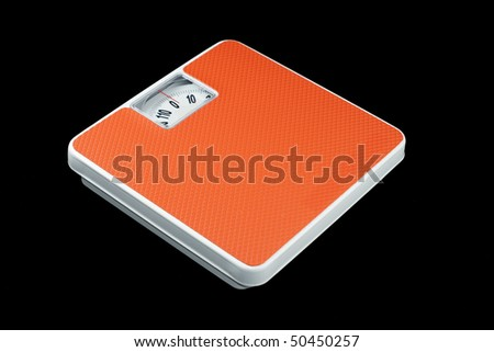 Weighing Scale On black background - stock photo