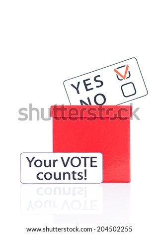 weighing word Yes and No. Concept of decision making.  - stock photo