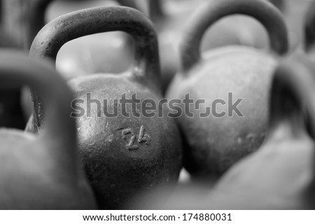 Weight balls background - stock photo