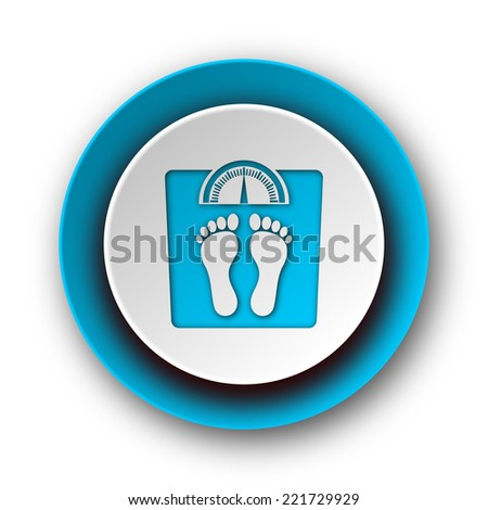 weight blue modern web icon on white background  - stock photo