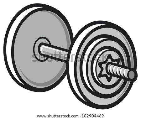 weight (dumbbell) - stock photo
