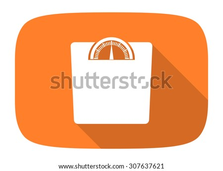 weight flat design modern icon with long shadow for web and mobile app  - stock photo