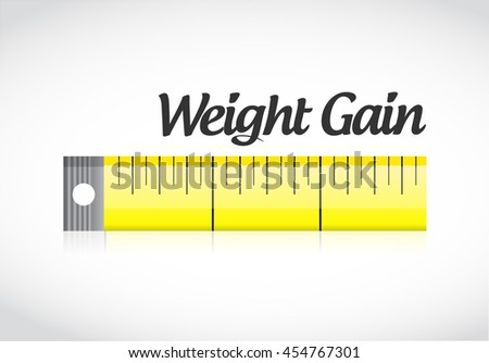 weight gain measuring tape concept illustration design graphic - stock photo