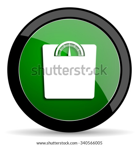 weight green web glossy circle icon on white background
