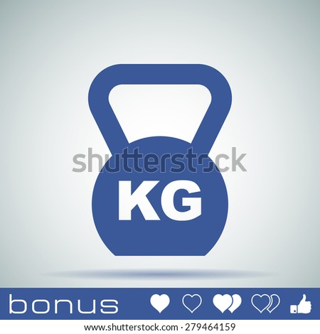 Weight icon - stock photo