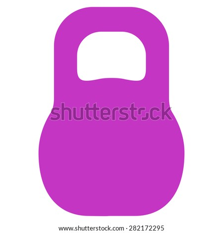 Weight icon from Basic Plain Icon Set. Style: flat symbol icon, violet color, rounded angles, white background. - stock photo