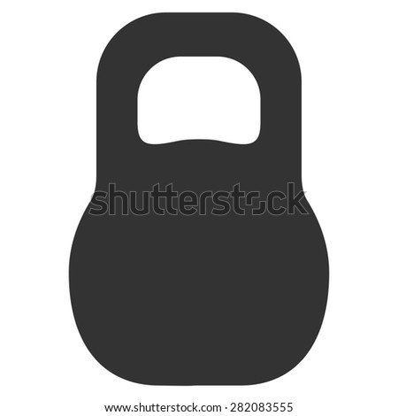 Weight icon from Basic Plain Icon Set. Symbol images have gray colors, rounded angles, and placed on a white background. - stock photo