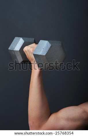 Weight lifting Dumbbells - stock photo