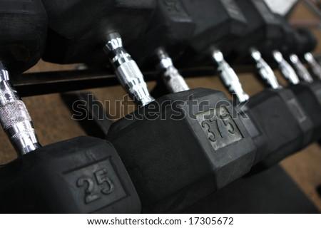 Weight lifting equipment - stock photo