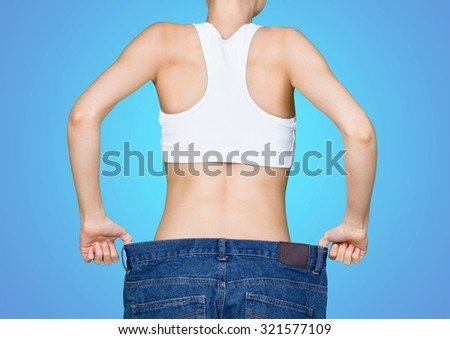 Weight loss. - stock photo