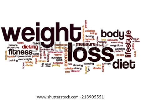 Weight loss concept word cloud background - stock photo
