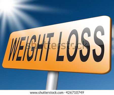 weight loss lose extra pounds by sport or dieting losing pounds road sign billboard
