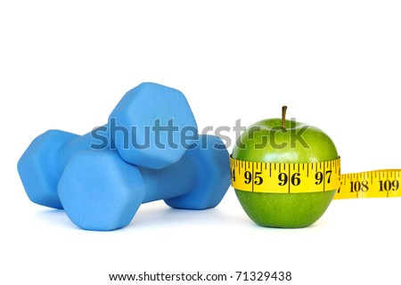 weight loss, workout and diet - stock photo