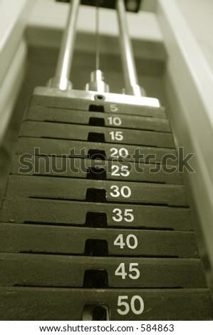 Weight machine - stock photo