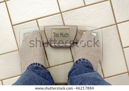 Weight problems? - stock photo