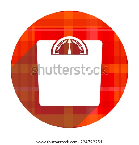 weight red flat icon isolated  - stock photo