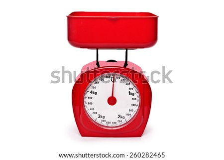 weight red scale - stock photo
