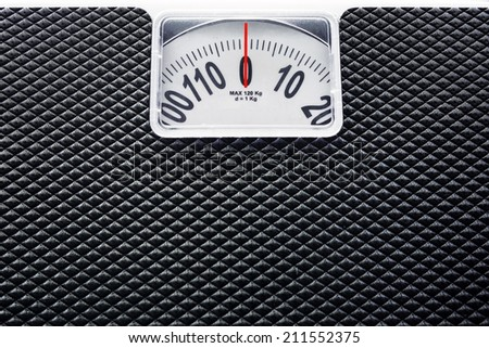 Weight Scale as Background - stock photo