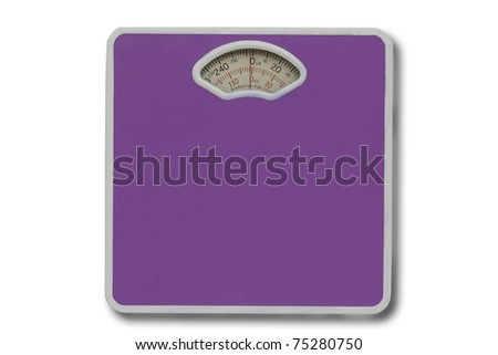 weight scale isolated in white. - stock photo