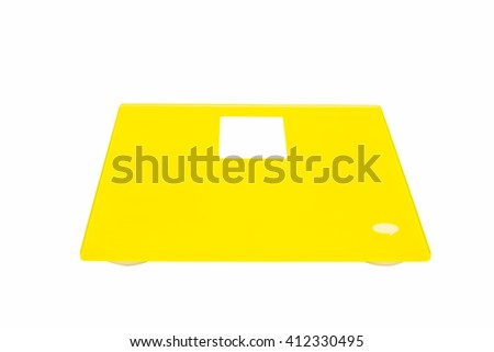 Weight Scale isolated on white background. - stock photo