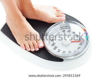 Weight Scale, Weight, Dieting. - stock photo