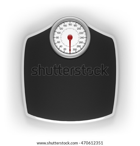 Weight scale with clipping path included.