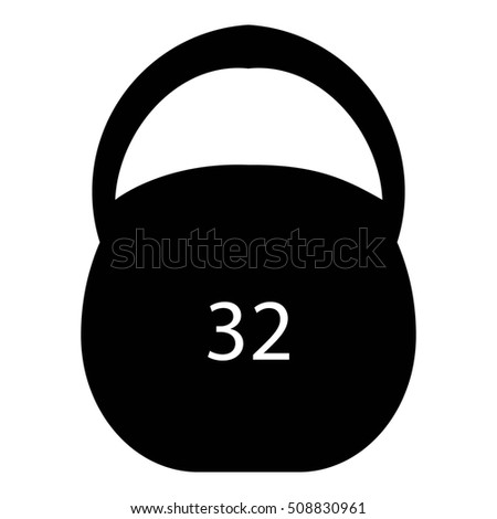 Weight Thirty Two Pounds Icon Simple Stock Illustration 508830961