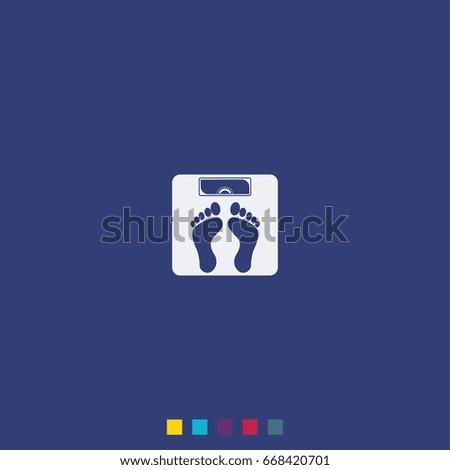 Weighting Icon Weight Watchers Illustration Stock Illustration