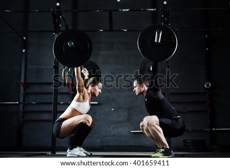 Weightlifting champions - stock photo