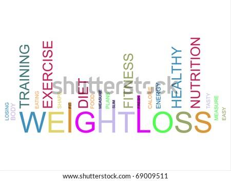 weightloss  text barcode, vector - stock photo