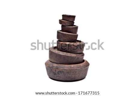 weights - stock photo