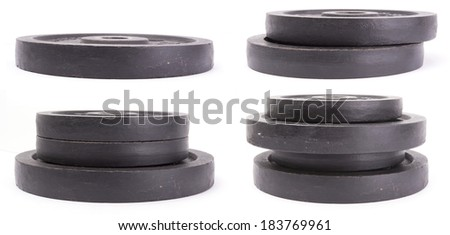 weights isolated  - stock photo