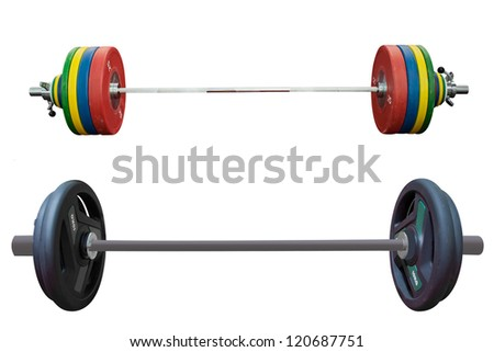 weights under the white background - stock photo
