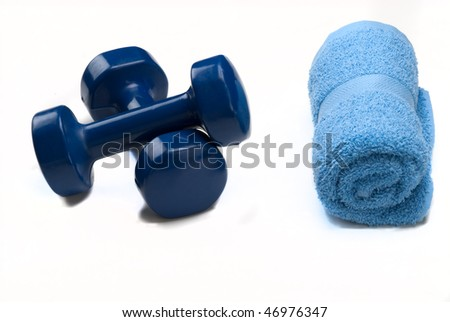 Weights with towel