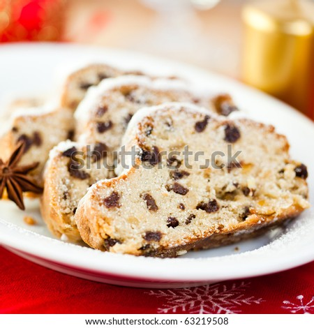 Weihnachtsstollen - stock photo