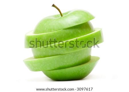 Weird Green Apple - stock photo